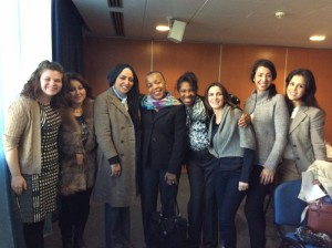 Erin Kelley, far left, and Gloria Blackwell, center, with a group of Tunisian Professional Fellows Program alumni (Photo Credit: Johnetta Frazier)
